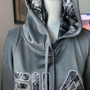 FILA sweatshirt with hood. NEW no tag. XL M or W